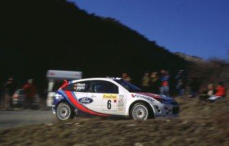 Carlos Sainz, Luis Moya, Ford Focus RS, al Rally Monte Carlo del 2000