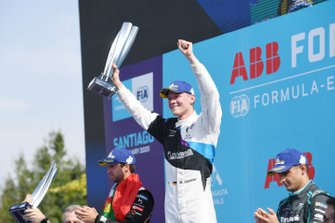 Antonio Felix da Costa, DS Techeetah, Maximilian Günther, BMW I Andretti Motorsports, Mitch Evans, Jaguar Racing, on the podium