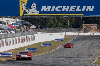 #911 Porsche GT Team Porsche 911 RSR: Patrick Pilet, Nick Tandy, Frederic Makowiecki, #62 Risi Competizione Ferrari 488 GTE: Alessandro Pier Guidi, James Calado, Daniel Serra