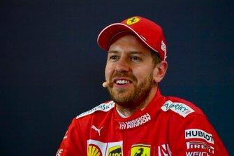 Sebastian Vettel, Ferrari, en conférence de presse après les qualifications