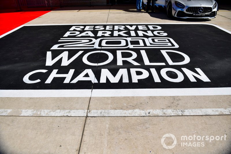 Parking reserved for Lewis Hamilton, Mercedes AMG F1