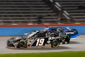 Brandon Jones, Joe Gibbs Racing, Toyota Supra iK9/Musket Powder, Garrett Smithley, JD Motorsports, Chevrolet Camaro Contec, Inc.
