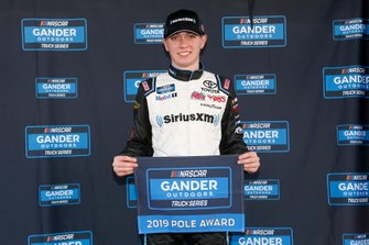 Ganador de la pole Christian Eckes, Kyle Busch Motorsports, Toyota Tundra SiriusXM