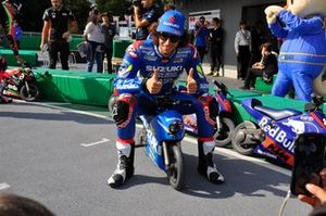 Alex Rins en el evento de las minimotos