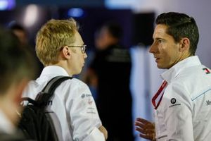 Ian James, Team Principal, Mercedes-Benz EQ talks to Sylvain Filippi, Managing Director, Envision Virgin Racing