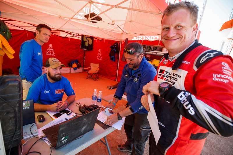 Bivouac Time Control ambiance with Tom Colsoul, Toyota Gazoo Racing