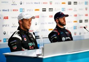 Andre Lotterer, Porsche, Porsche 99x Electric, Sam Bird, Virgin Racing, in conferenza stampa