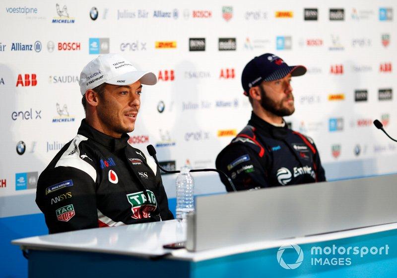 Andre Lotterer, Porsche, Porsche 99x Electric, Sam Bird, Virgin Racing, in the press conference