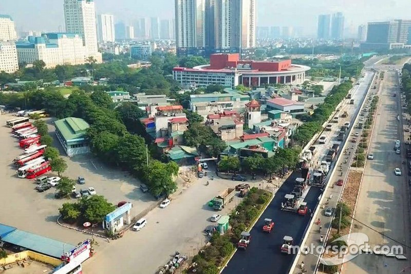 Bauarbeiten am Stadtkurs in Hanoi