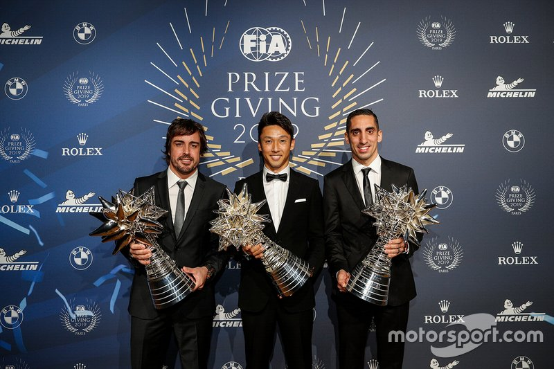 Champions WEC : Fernando Alonso, Sébastien Buemi, Kazuki Nakajima (Toyota)