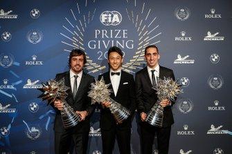 Fernando Alonso, Sébastien Buemi, Kazuki Nakajima