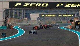 Lewis Hamilton, Mercedes AMG F1 W10, Charles Leclerc, Ferrari SF90, Max Verstappen, Red Bull Racing RB15, Sebastian Vettel, Ferrari SF90, Alexander Albon, Red Bull RB15, Lando Norris, McLaren MCL34