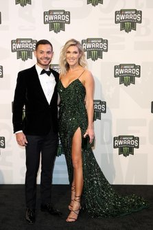 Kyle Larson and his wife Katelyn