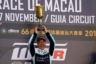 Podium: Race winner Andy Priaulx, Cyan Performance Lynk & Co 03 TCR