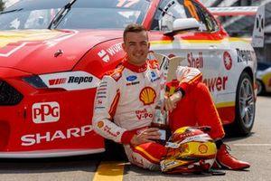 Scott McLaughlin, DJR Team Penske Ford with the Virgin Australia Championship trophy