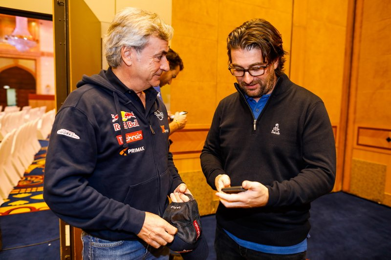#305 JCW X-Raid Team: Carlos Sainz, David Castera, director of the Dakar Rally