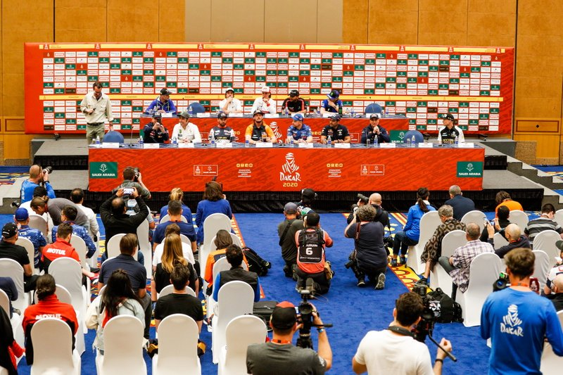 Ambiance during the press conference