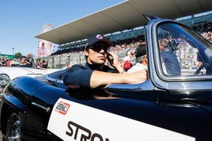 Lance Stroll, Racing Point, in the drivers parade