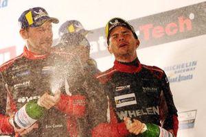 Race winners Pipo Derani, Eric Curran
