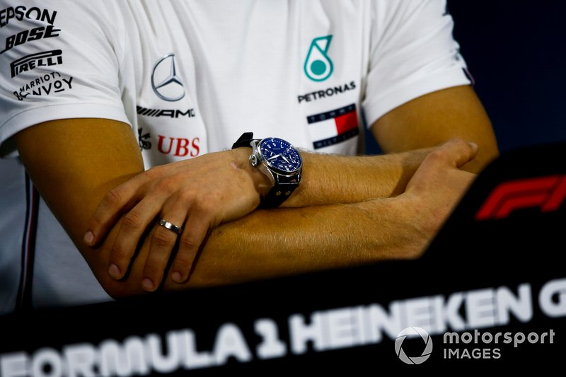 Watch of Valtteri Bottas, Mercedes AMG F1 In the Press Conference