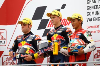 Sandro Cortese, Red Bull KTM Ajo, Danny Kent, Red Bull KTM Ajo, Zulfahmi Khairuddin, Air Asia SIC Ajo