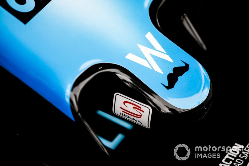 Movember logo on the nose of the Williams FW42