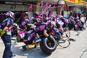 Racing Point Pit stop practice