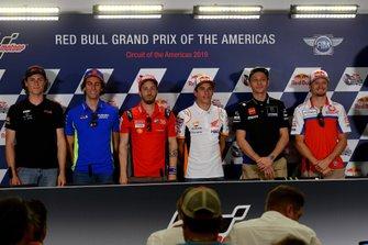 Joe Roberts, Alex Rins, Team Suzuki MotoGP, Andrea Dovizioso, Ducati Team, Marc Marquez, Repsol Honda Team, Valentino Rossi, Yamaha Factory Racing, Jack Miller, Pramac Racing