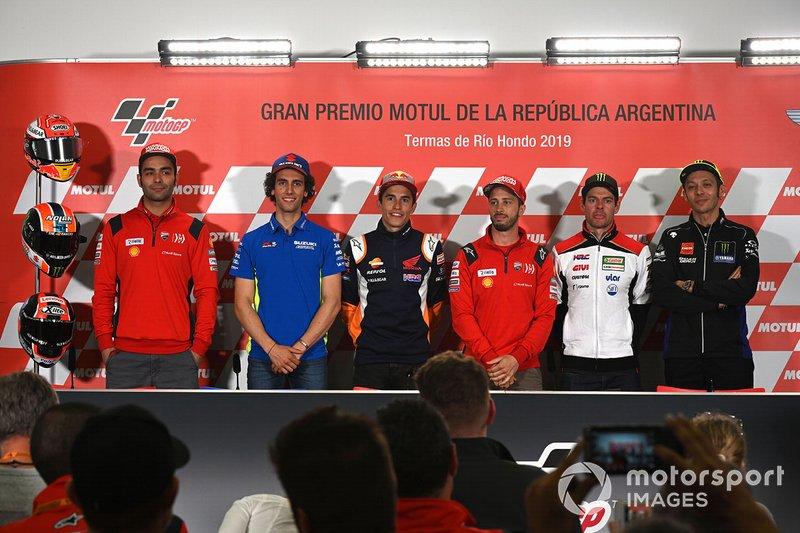 Danilo Petrucci, Ducati Team, Alex Rins, Team Suzuki MotoGP, Marc Marquez, Repsol Honda Team, Andrea Dovizioso, Ducati Team, Cal Crutchlow, Team LCR Honda, Valentino Rossi, Yamaha Factory Racing