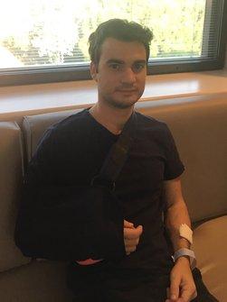 Dani Pedrosa at the Barcelona Teknon Medical Centre