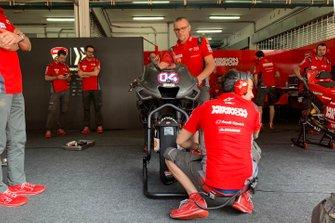Andrea Dovizioso, Ducati Team, con la nuova carena