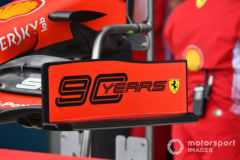 Front wing endplate of the Ferrari SF90