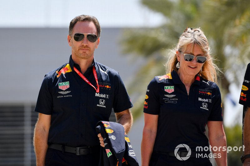 Christian Horner, Team Principal, Red Bull Racing, and Jayne Poole, HR Director, Red Bull Racing (F1) & Red Bull Technology