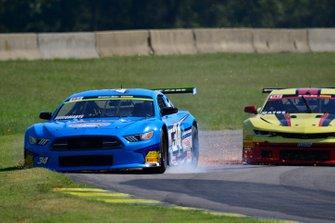 #34 TA2 Ford Mustang driven by Tony Buffomante of Mike Cope Racing Enterprises, #88 TA2 Chevrolet Camaro driven by Rafael Matos of HP Tech Motorsports