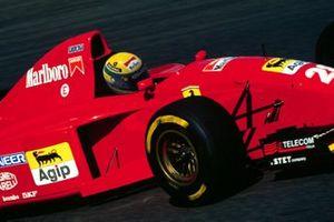 Fotomontage: Ayrton Senna im Ferrari 412T2 von 1995