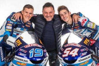 Gabriel Rodrigo, Fausto Gresini, Riccardo Rossi, Team Kömmerling Gresini Moto 3