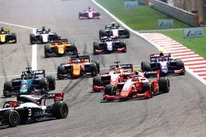 Sean Gelael, PREMA RACING, Mick Schumacher, PREMA RACING ve Sergio Sette Camara, DAMS