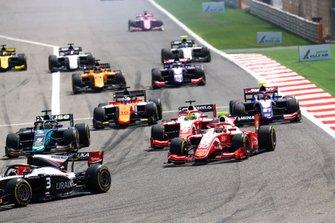 Sean Gelael, PREMA RACING, Mick Schumacher, PREMA RACING and Sergio Sette Camara, DAMS