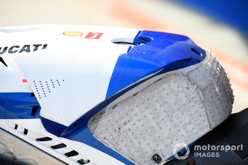 Le réservoir d'une Pramac Ducati