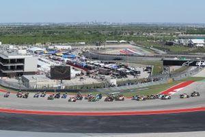 Start zum Moto3-Rennen 2019 in Austin