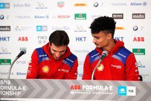 Jérome d'Ambrosio, Mahindra Racing, Pascal Wehrlein, Mahindra Racing in the press conference