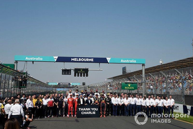 """Гонщики Ф1 на підтримку гоночного директора Чарлі Вайтінга: """"Дякуємо, Чарлі"""""""