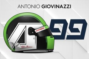 Le casque 2019 d'Antonio Giovinazzi