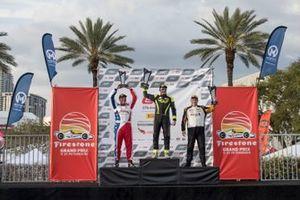 Podium GT4 race 1