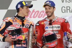 1. Andrea Dovizioso, Ducati Team, 2. Marc Marquez, Repsol Honda Team