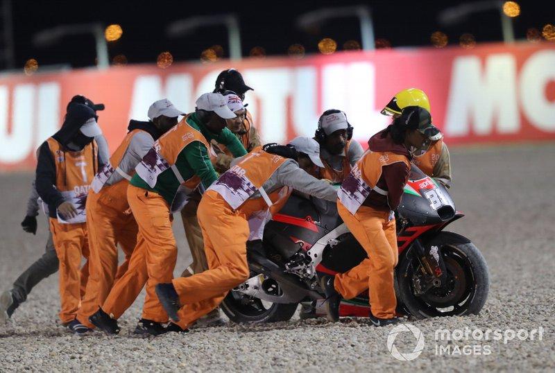 Bradley Smith, Aprilia Racing Team Gresini, caída