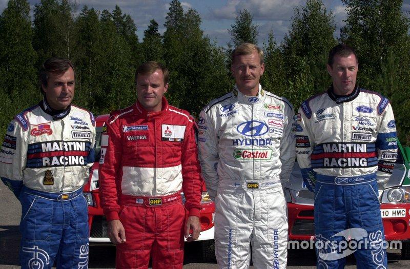 Carlos Sainz, Tommi Makinen, Juha Kankkunen and Colin McRae