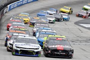 Ty Dillon, Germain Racing, Chevrolet Camaro GEICO, Clint Bowyer, Stewart-Haas Racing, Ford Mustang Haas Automation