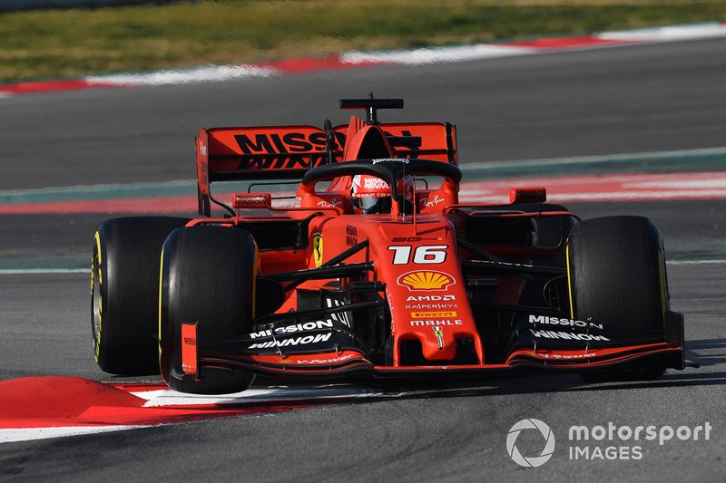 Charles Leclerc, Ferrari SF90 lifts a front wheel