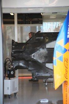 McLaren MCL34 vloer detail
